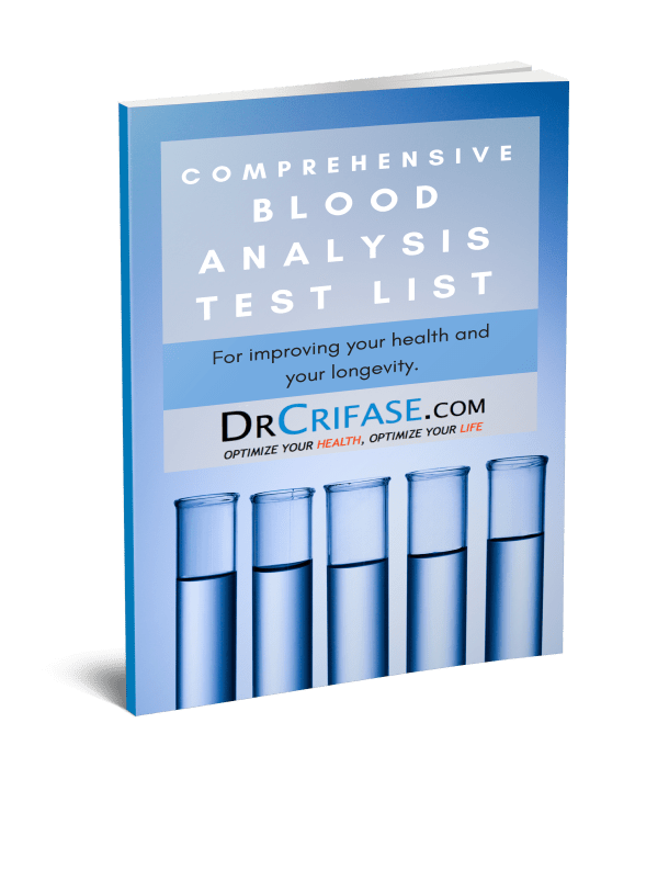 Dr. Anthony Crifase | Blood analysis Report | Functional medicine Chicago | Laboratory Testing | Blood tests chicago | Cholesterol test | Heart disease testing | Thyroid Testing | Natural Medicine Chicago