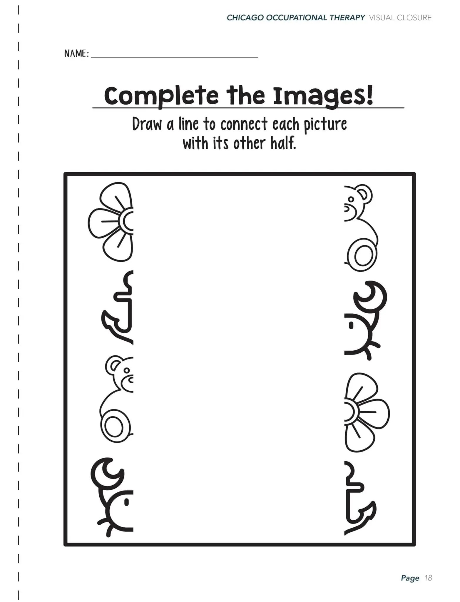 Visual Form Constancy Printable Worksheet