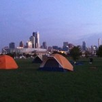 Camp on Northerly Island Oct 1