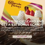 Cheesecake Factory gift card deal