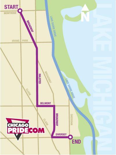 Chicago Pride Parade Map