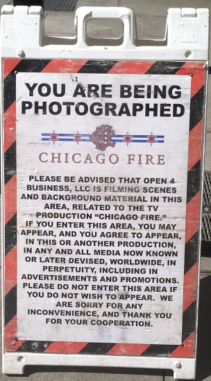 Filming in Chicago