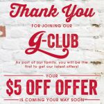 Join Giordano's G-Club Get $5