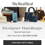 TheRealReal: Sign up and get $25 credit