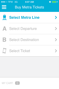 Ventra App Metra Ticket screen 3