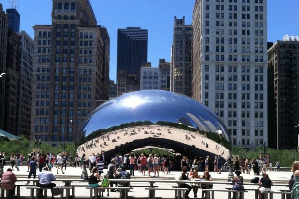 The Bean Millennium Park in Chicago - a popular spot for visitors and tourists