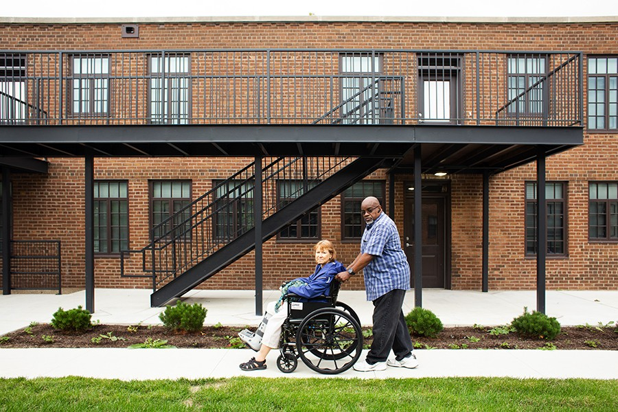 Cynthia Scott and Joseph Burrell both moved to Lathrop as single parents in the 1980s. Eventually they combined households and fought to preserve family public housing on the site.