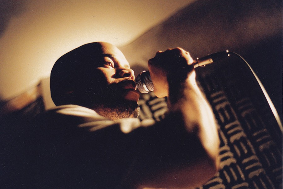 Akbar of Chicago hip-hop duo Mental Giants in the mid-90s. The Mental Giants frequently came to Blue Groove Lounge, and they headline this week's Winter Block Party at Metro honoring the series's 25th anniversary.