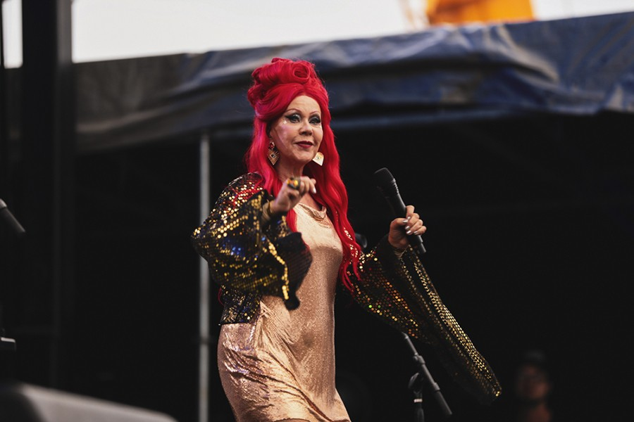Kate Pierson's hair grows right out of her head that color, and I don't want to hear another word about it.