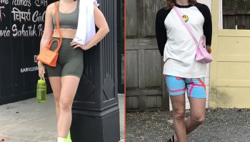 Megan Szkatulski (left) and Jackson Powell (right) have two different approaches to styling the ever-popular Telfar bag.