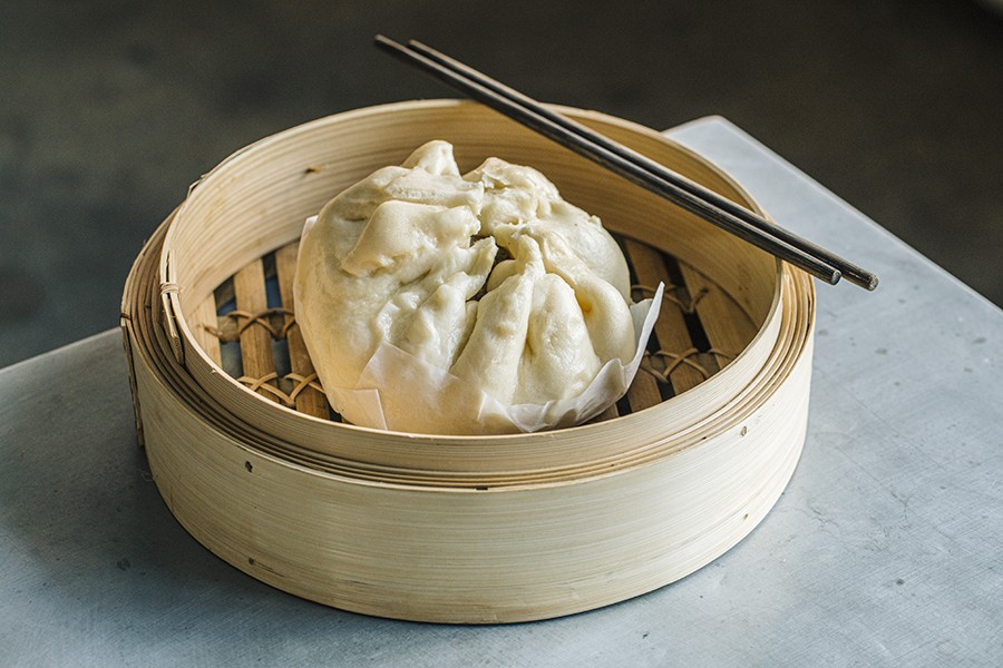 The steamed dumpling banh bao is the showstopper on Giống Giống's eight-item menu.
