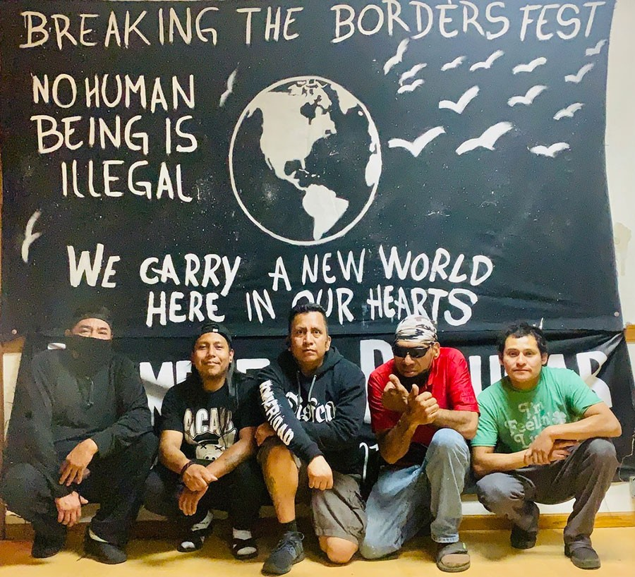 Members, residents, and friends of La Casa del Inmigrante, pictured earlier this month: Agustín, Iván, Marcos Hernández, Juan Herrera, Pedro