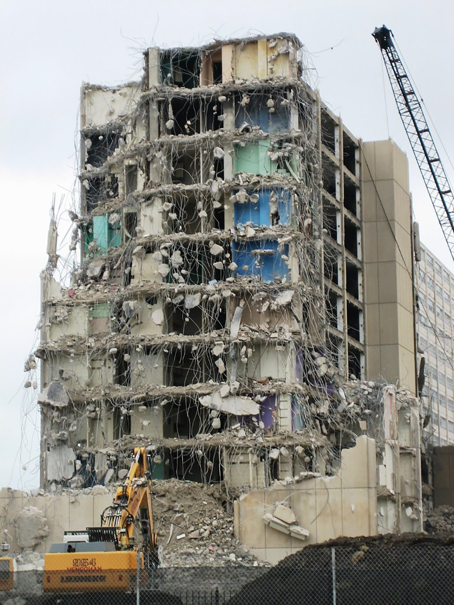 Demolition of the Cabrini-Green high-rises took years, and the final building came down in late March 2011.