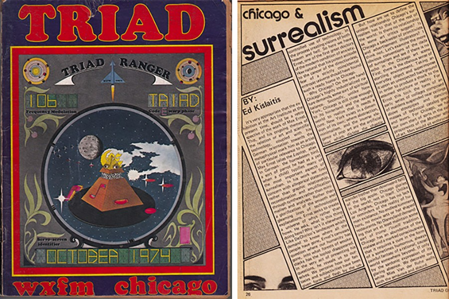 The October 1974 Triad radio guide contains a long essay about surrealism in art.