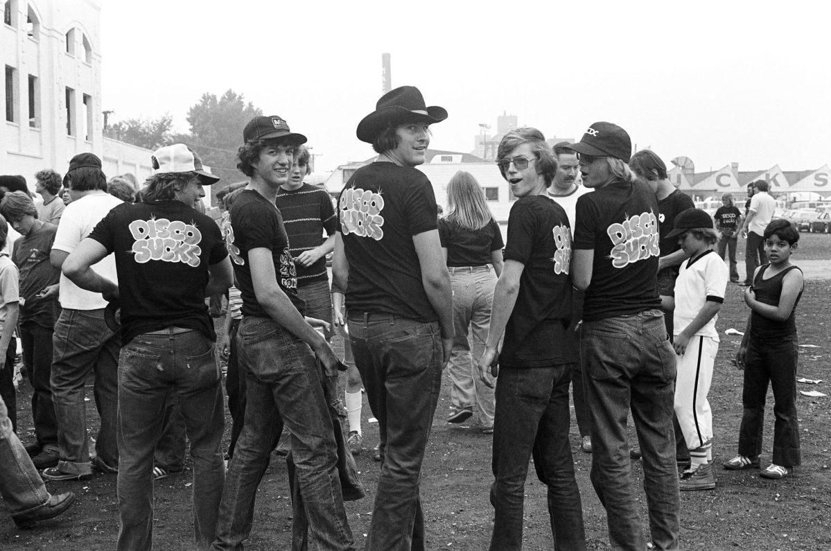 Members of Steve Dahl's Insane Coho Lips Anti-Disco Army