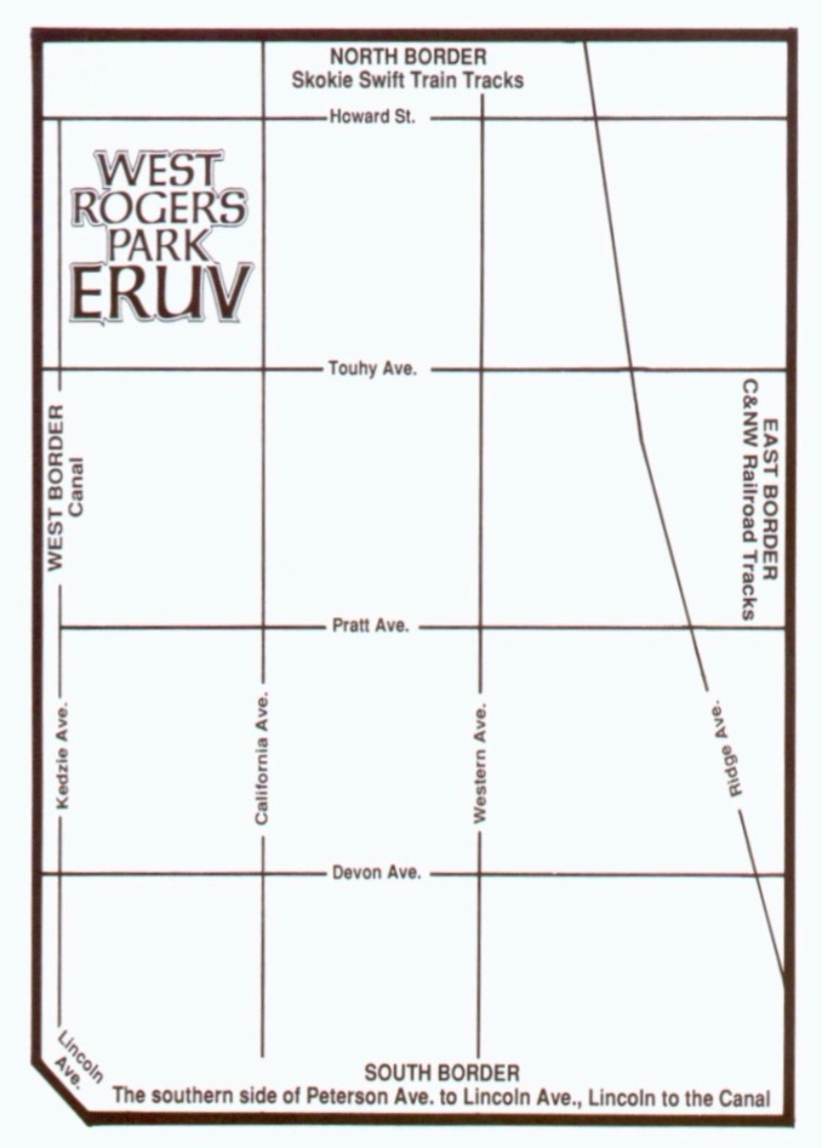 Map of the West Rogers Park Eruv