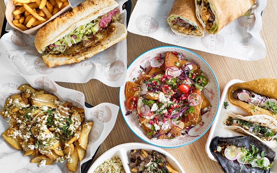 A menu of Lebanese-Mexican mashups