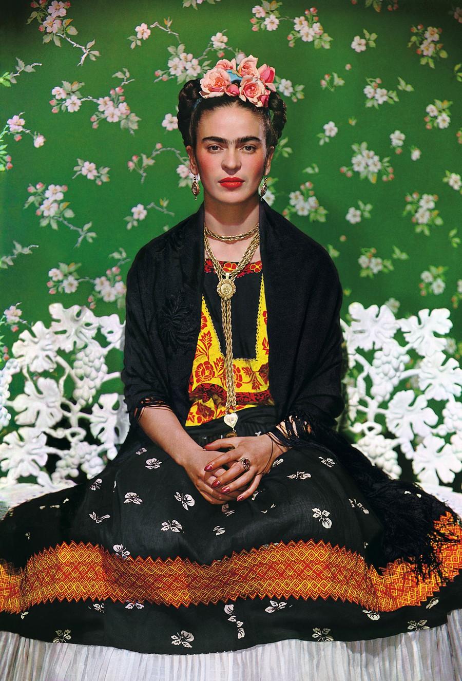 Nickolas Muray, Frida Kahlo on White Bench, New York (2nd Edition), photograph, 1939
