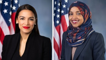 Representatives Alexandria Ocasio-Cortez and Ilhan Omar, two founding members of the Squad