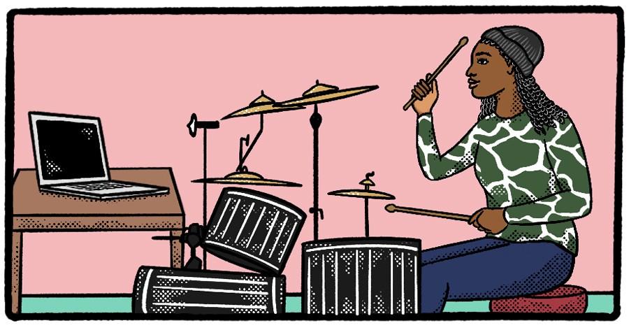 Hospital Bracelet drummer Manae Hammond