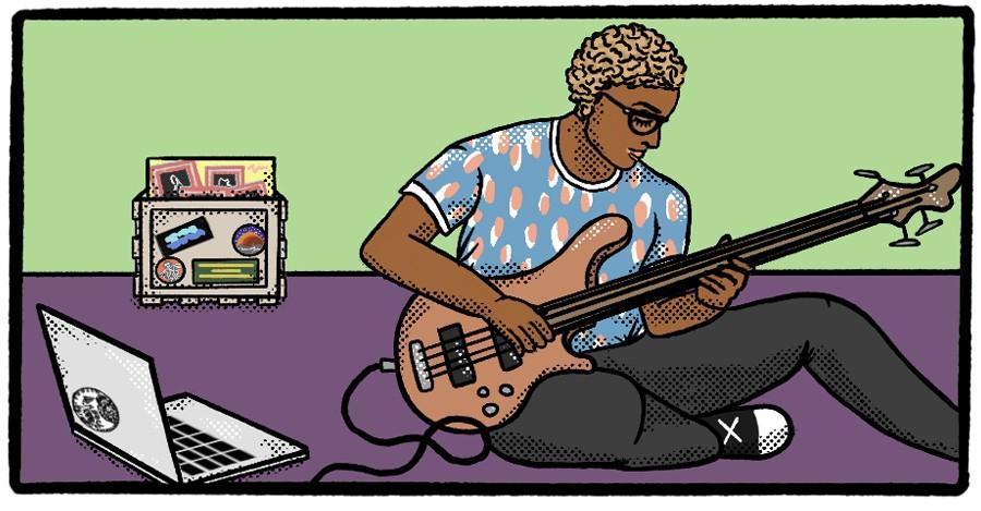 """Hospital Bracelet bassist Arya """"A.J."""" Woody"""
