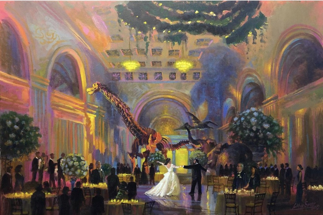 Lothar Speer now makes a living with several artistic ventures, including live painting weddings.