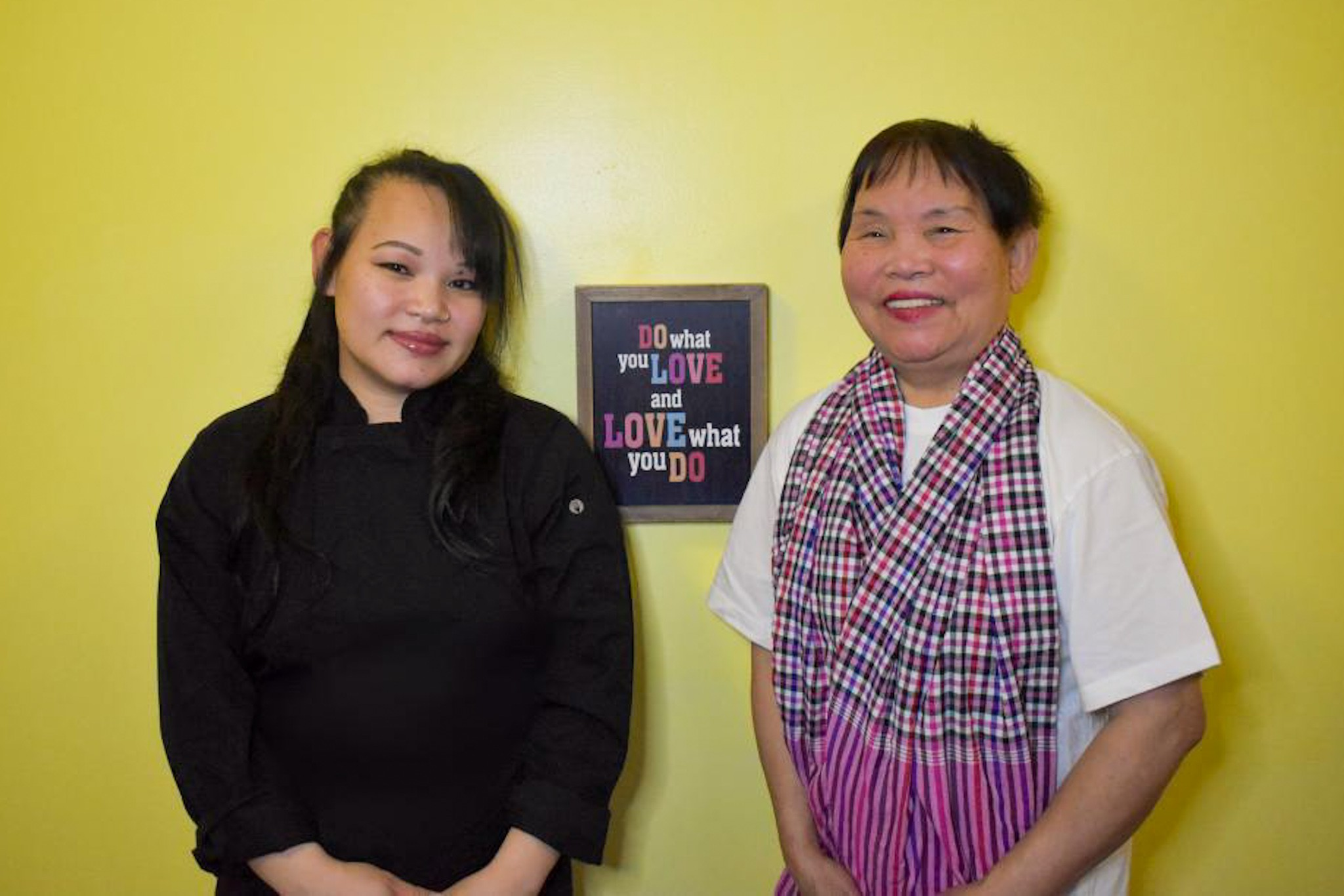 Mona Sang and Sarom Sieng