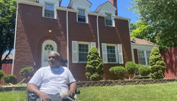 Willie Jones outside the Elite Houses of Sober Living's facility in Chicago Heights