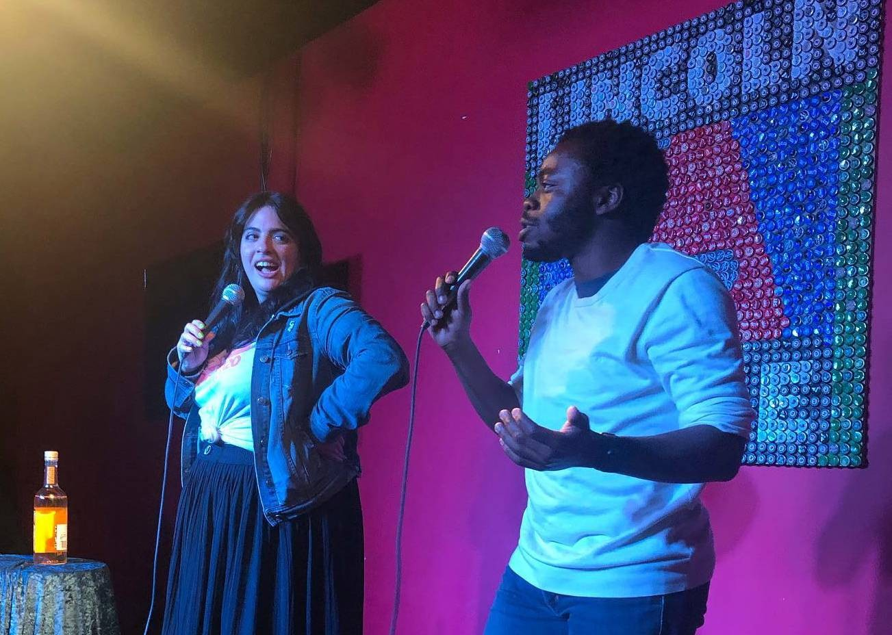 Danii Gallegos and Demi Adejuyigbe at <i>We Still Like You</i> at the new Lincoln Lodge.