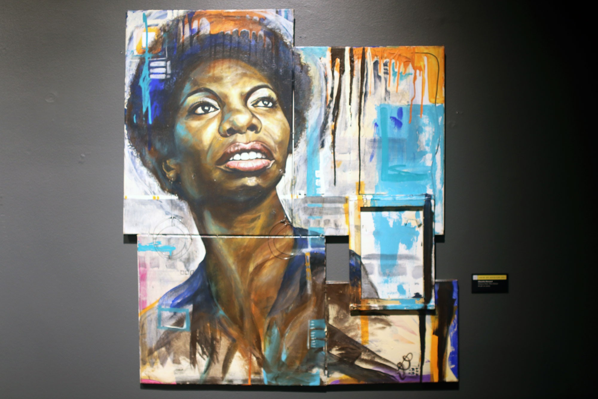 <i>Xcessory Freex: Nina Simone</i> by Clauetta Howard is one of the many pieces that pay tribute to Black people who have influenced culture, politics, and more.