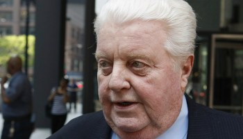 May 24, 2010 Former Chicago Police commander Jon Burge departs the federal building in Chicago after the first day of jury selection in his obstruction of justice and perjury trial. (Photo added 2018)