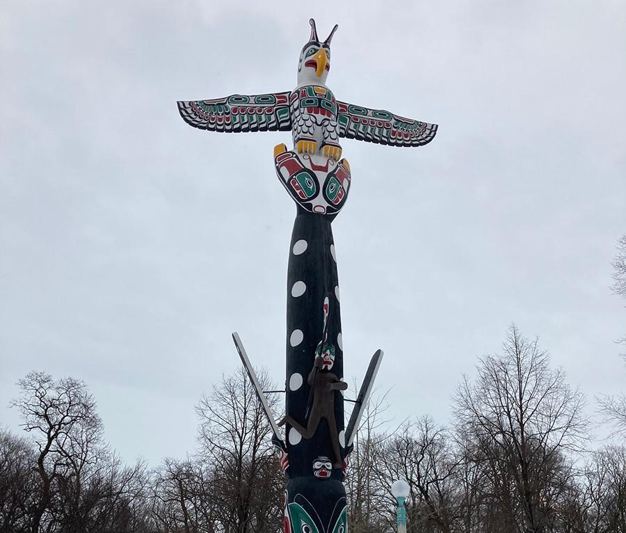 The Kwa-Ma-Rolas totem pole