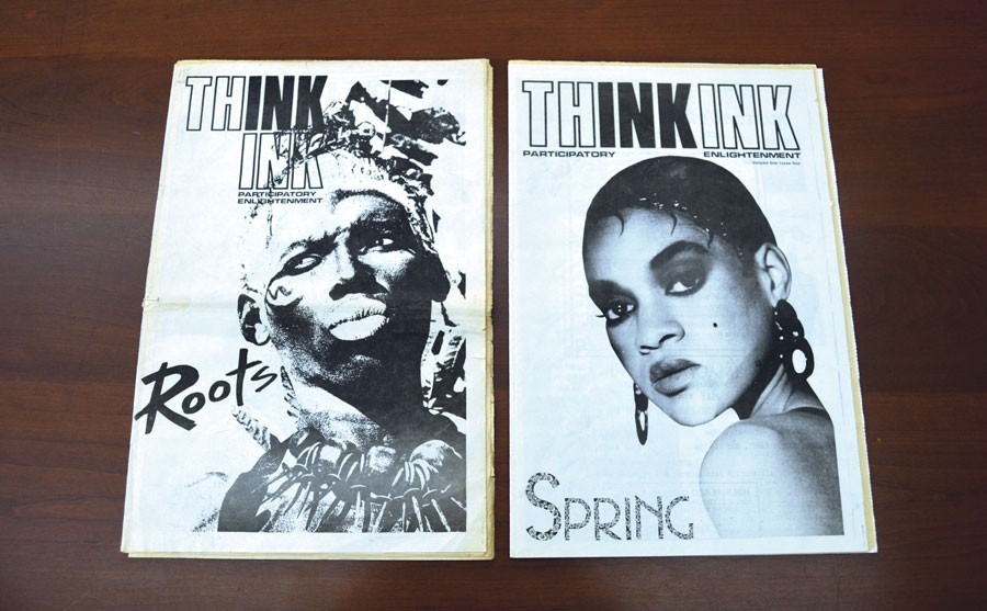 The only two issues of <i>Thing</i>'s short-lived predecessor, <i>Think Ink</i>, published in late 1987 and early 1988