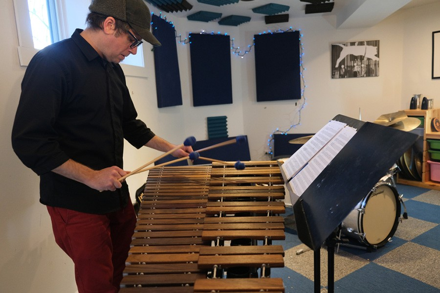 Tim Daisy's new collaboration with Ikue Mori incorporates a fair amount of his solo marimba playing.
