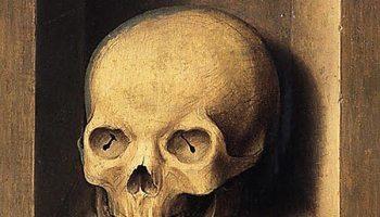 "Barthel Bruyn, the Elder German, 1493 - 1555 ""Portrait of a Man/A Skull in a Niche"" ca. 1535-55, oil on panel"