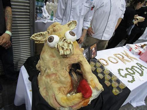 A pork soda display by Fresco 21 from last year's Baconfest.