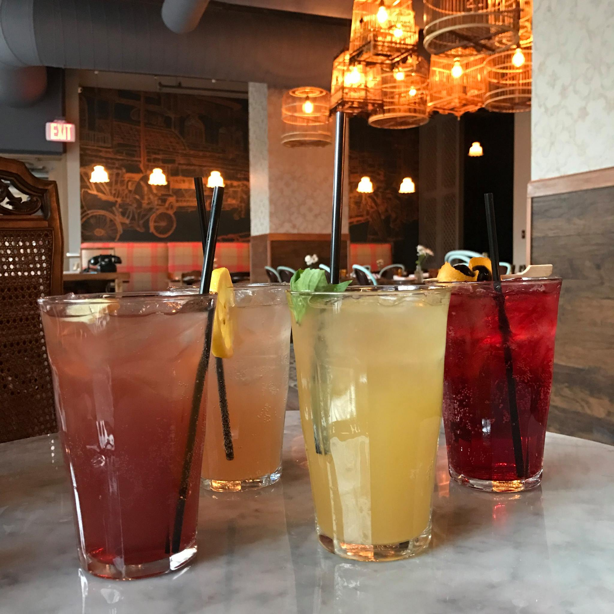 A selection of the cocktails