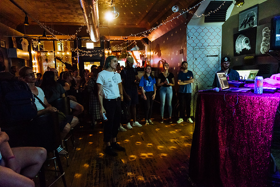 Cafe Mustache during Open Beats