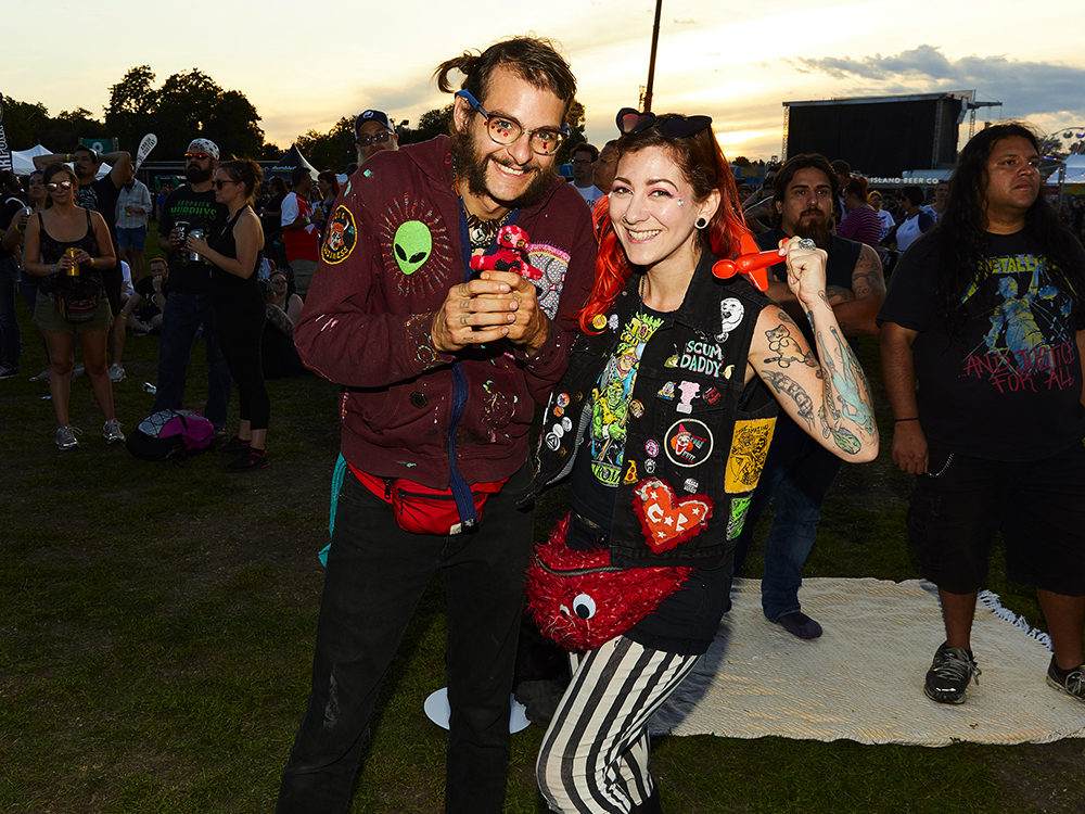 Ween fans Kyle and Scarlette
