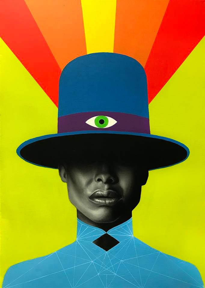 """James Nelson's <i>Badu</i>, one of many portraits on display at """"You, Me and Everyone Else"""