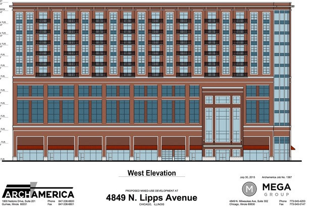 Mega Realty's proposed 12-story tower would be built just southeast of the transit center.