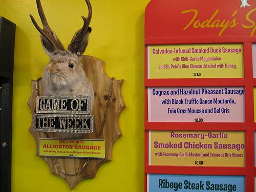 Specials board at Hot Doug's