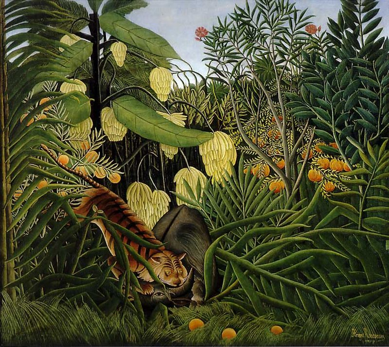 <i>Fight Between a Tiger and a Buffalo</i> by Henri Rousseau (1908)