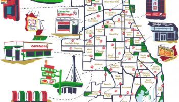Iconic Chicago Restaurants Map