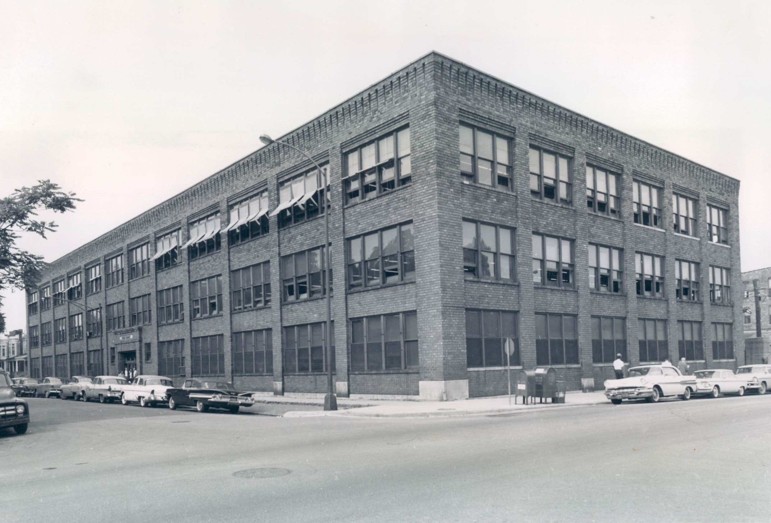 A warehouse for children: Goodwill used this building, pictured here in 1960, as a retail shop and warehouse. After purchasing the building for $75,000, Chicago Public Schools attempted to repurpose it as an elementary school.