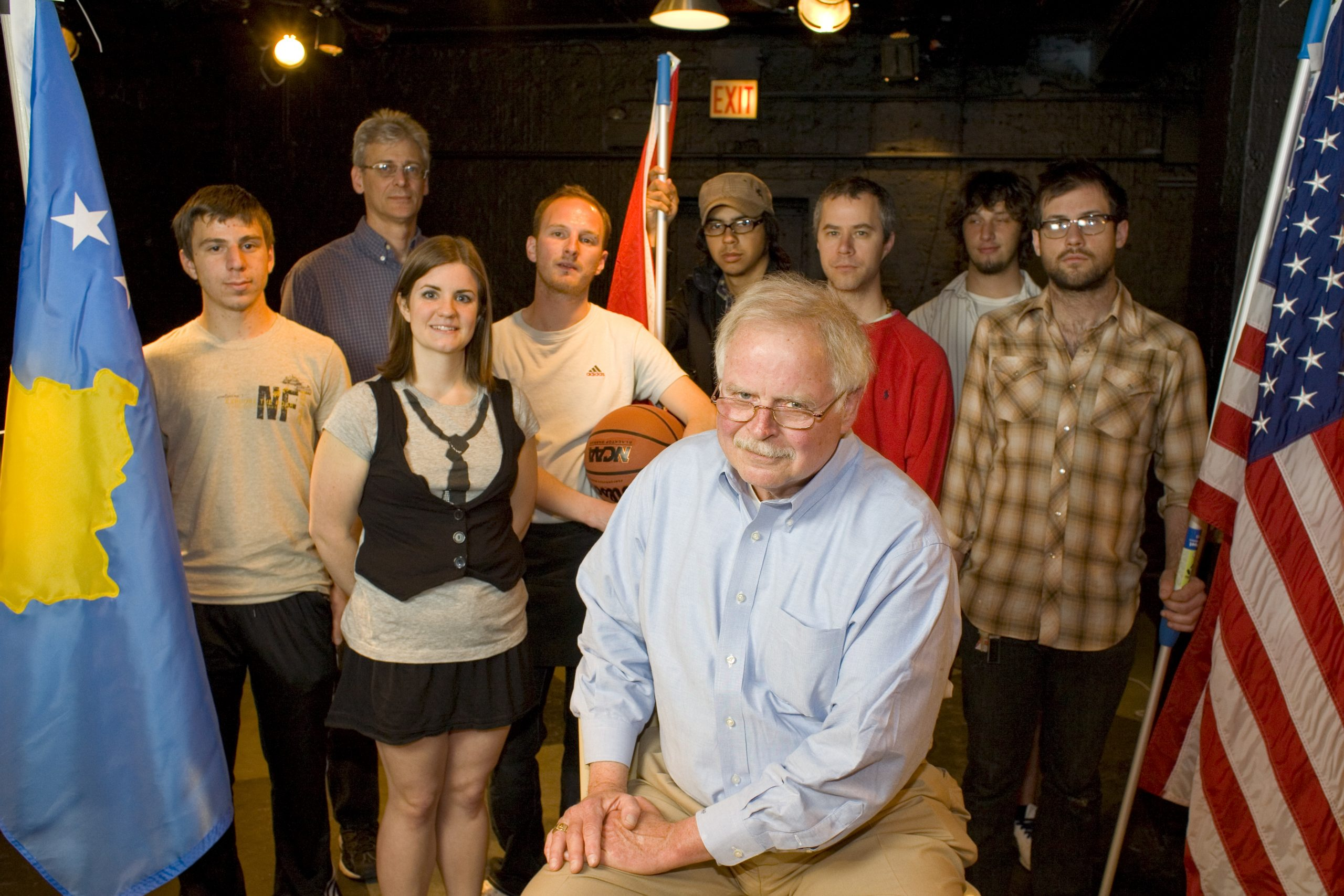 Hank Perritt with the cast of <i>You Took Away My Flag</i>