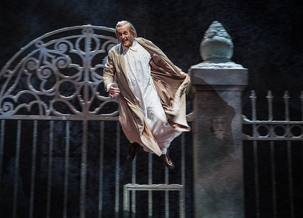 Larry Yando plays Scrooge in the Goodman's <i>Christmas Carol</i>.