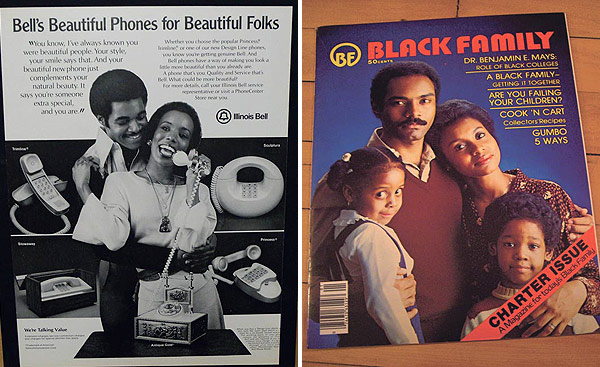 Ad for Illinois Bell; the first issue of <em>Black Family</em>