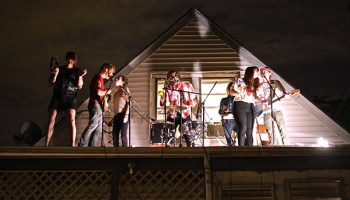 The Lemons perform on the roof of Animal Kingdom, an unlicensed DIY venue in Avondale.