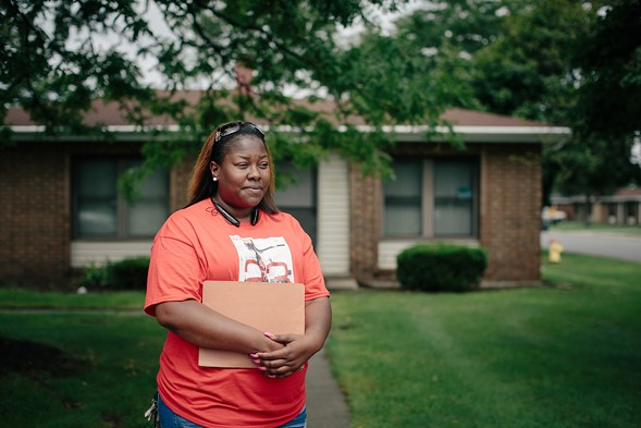 Akeeshea Daniels and her two sons are among the families scheduled to be relocated from the lead-contaminated West Calumet Housing Complex.